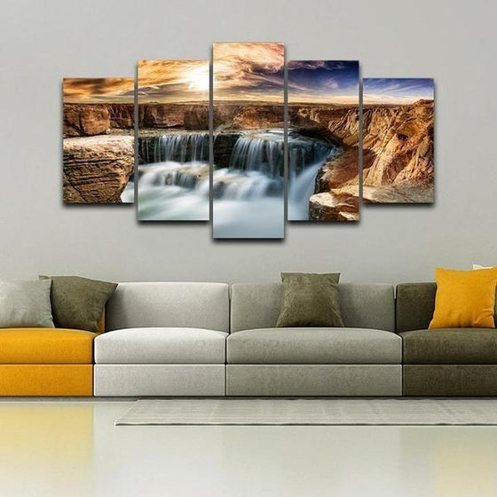 Moving Waterfall Wall Art Canvases