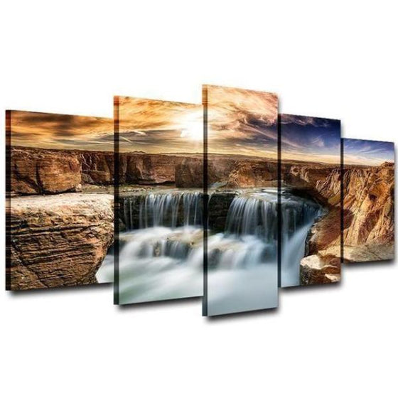 Moving Waterfall Wall Art Print