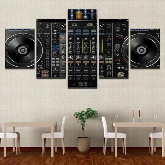 Music DJ Console Instrument Mixer Canvas Wall Art Dining Room