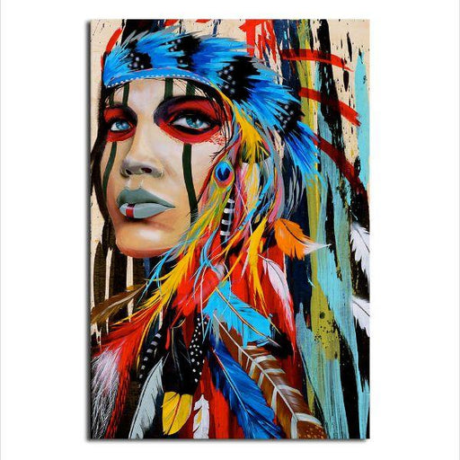 Native American Girl Canvas Wall Art