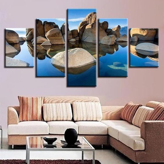 Scenic Rock Formation Canvas Art