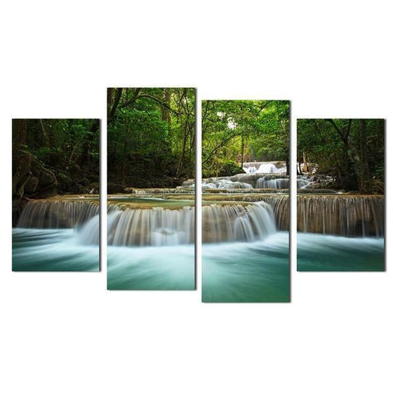 Forest Waterfalls Canvas Wall Art