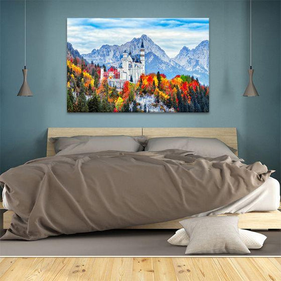 Neuschwanstein Castle Canvas Wall Art Bedroom