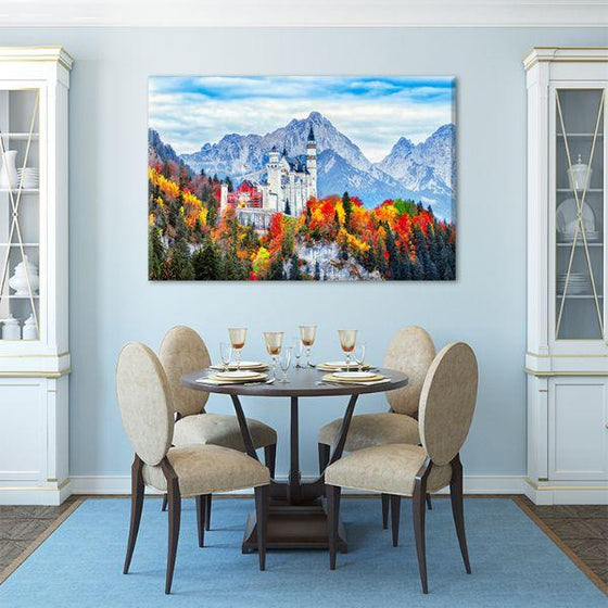 Neuschwanstein Castle Canvas Wall Art Dining Room