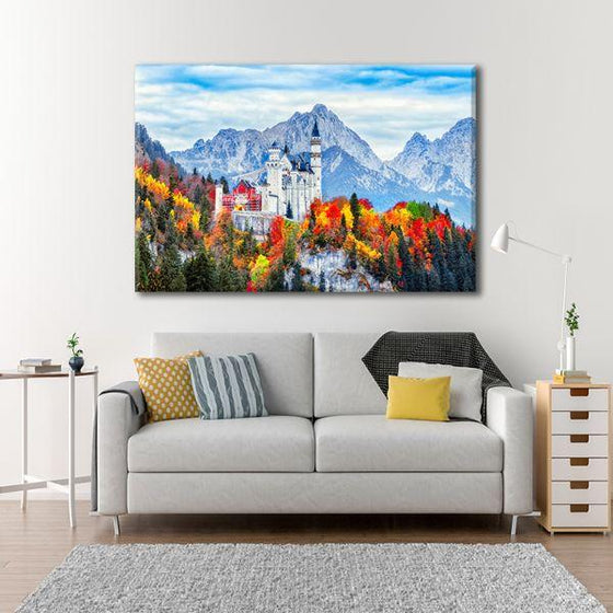 Neuschwanstein Castle Canvas Wall Art Living Room