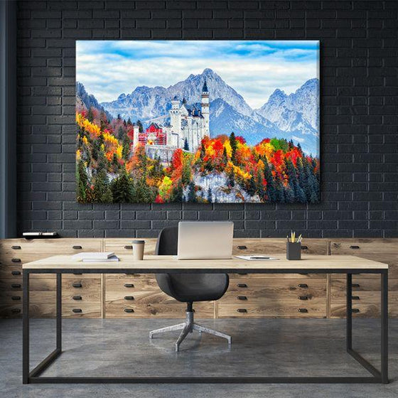 Neuschwanstein Castle Canvas Wall Art Office