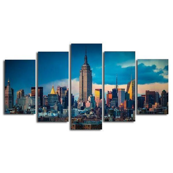 New York City At Daylight Canvas Wall Art