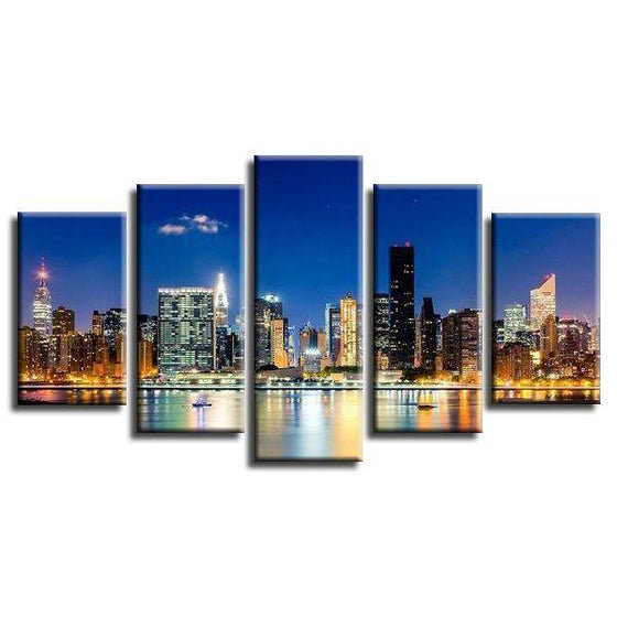 New York City Lights Canvas Wall Art