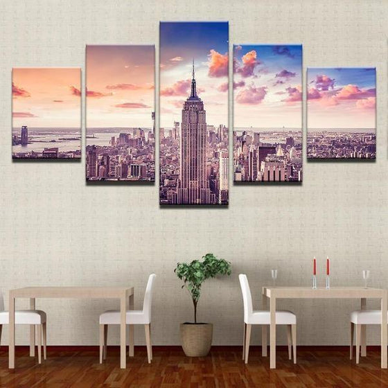 New York Cityscape Wall Art Canvases