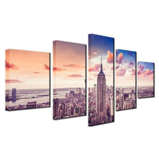 New York Cityscape Wall Art Idea