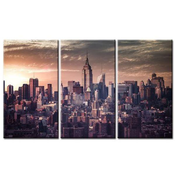 New York Sunrise View Wall Art