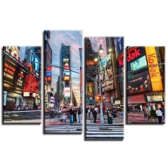 New York Time Square Canvas Wall Art