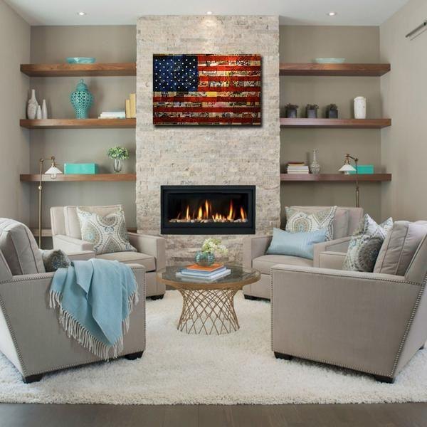 Delicieux Newspaper American Flag Canvas Art