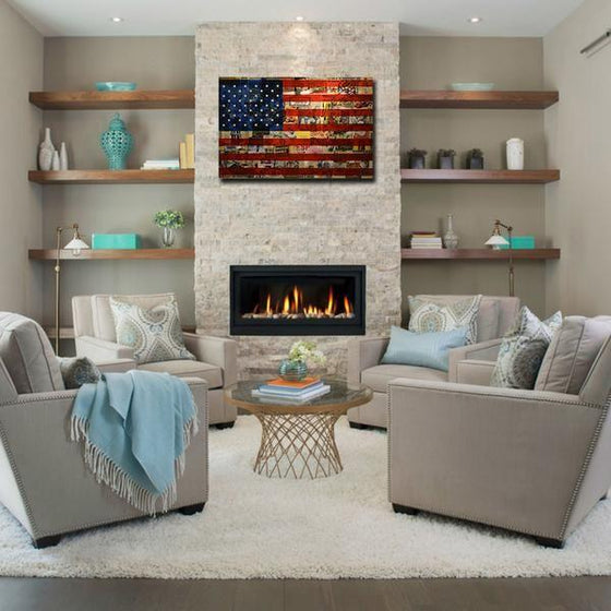 Newspaper American Flag Wall Art Living Room