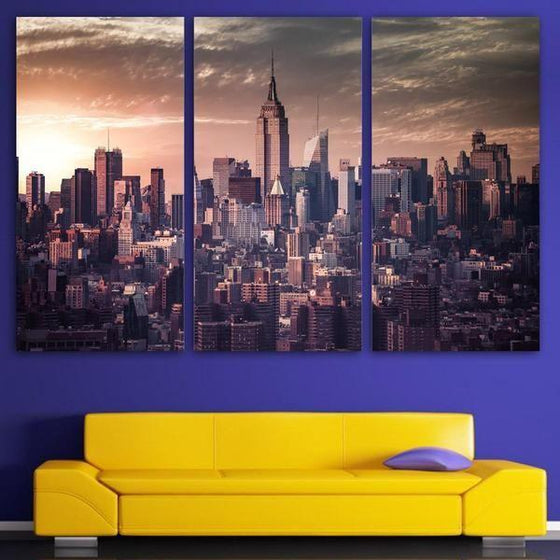 NYC Cityscape Wall Art Idea