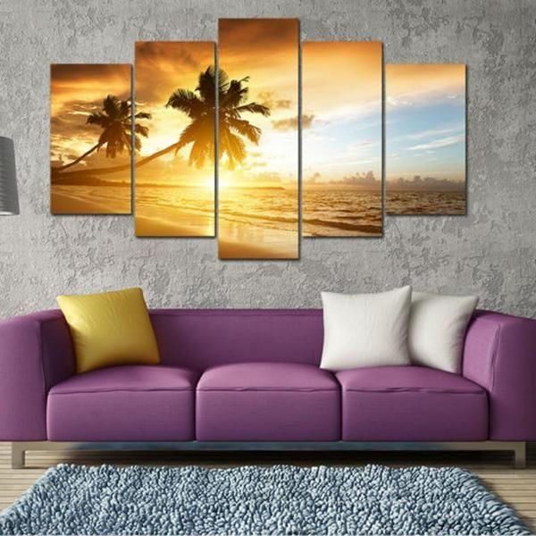 Ocean Wall Art Sunset Idea