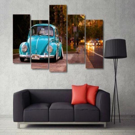 Old Car Wall Art Canvas
