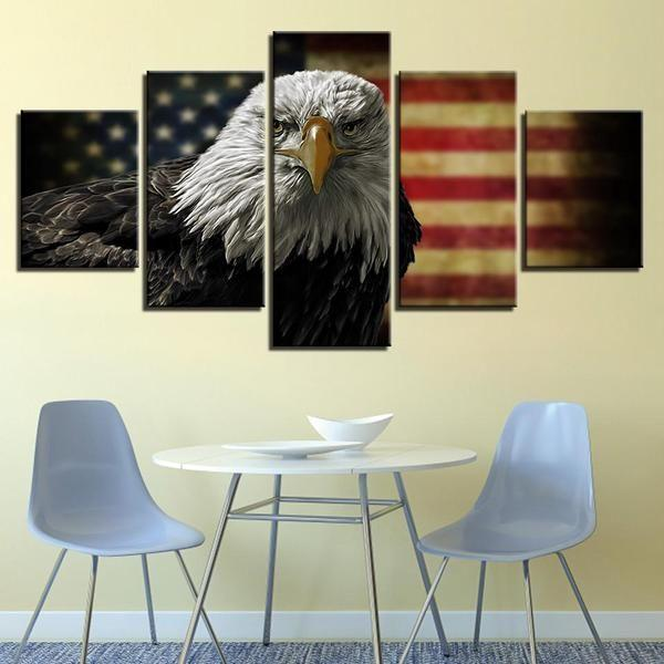 Outdoor American Flag Wall Art Canvases