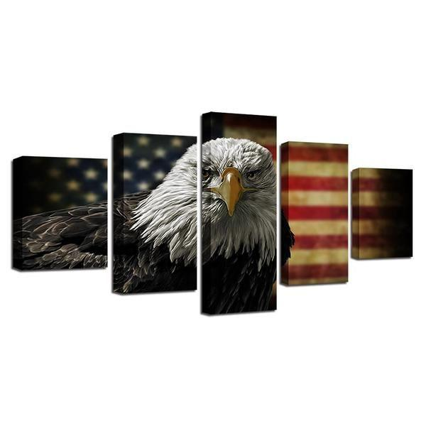 Outdoor American Flag Wall Art Decors