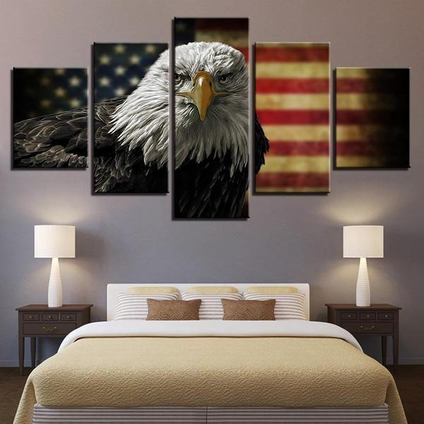 Outdoor American Flag Wall Art