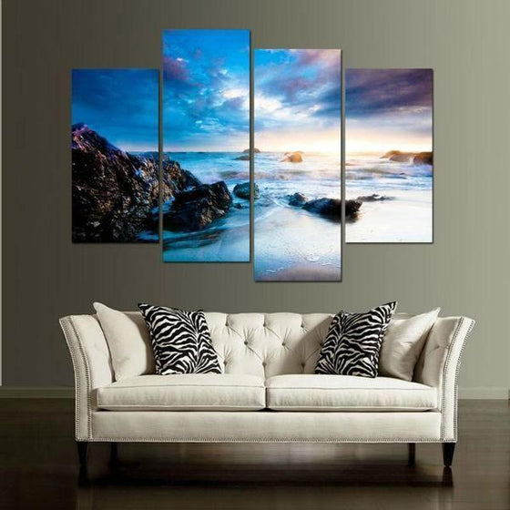 Outdoor Metal Wall Art Beach Themed Canvas