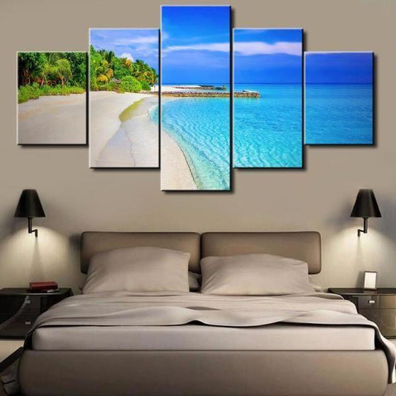 Beach Wave On The Seashore Canvas Wall Art Bedroom