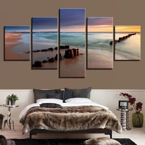 Outdoor Wall Art Beach Theme Canvas