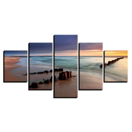 Forgotten Sea Bridge Canvas Wall Art