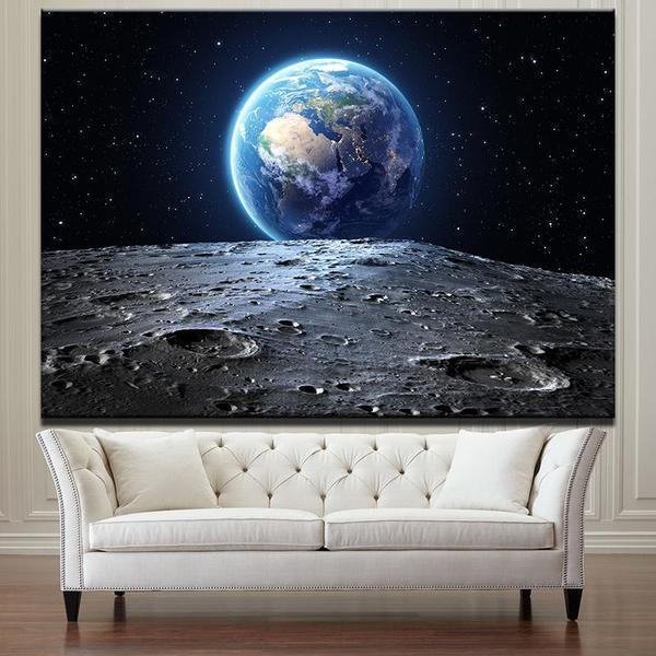 Earth View From Mars Canvas Wall Art — canvasx.net