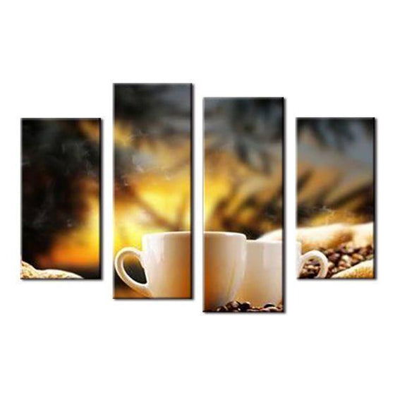 Pair Of Coffee Cup Canvas Wall Art