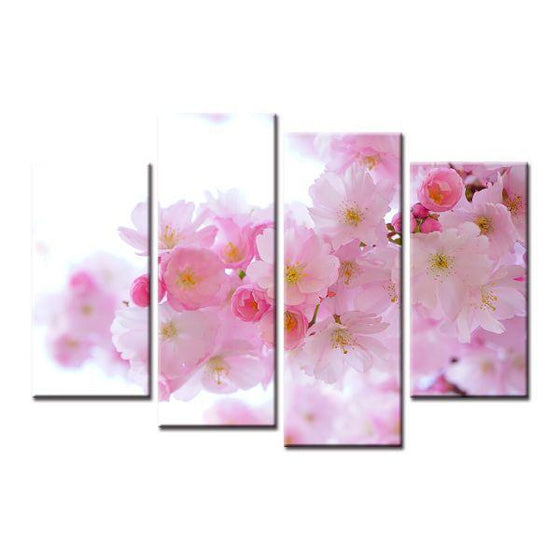 Pastel Pink Flowers Canvas Wall Art