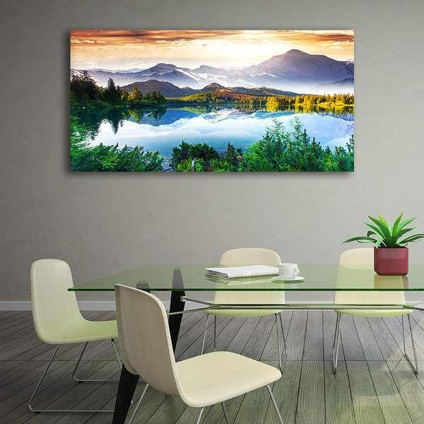 Peaceful Lake Scenic View Canvas Wall Art | Nature Canvas Prints ...