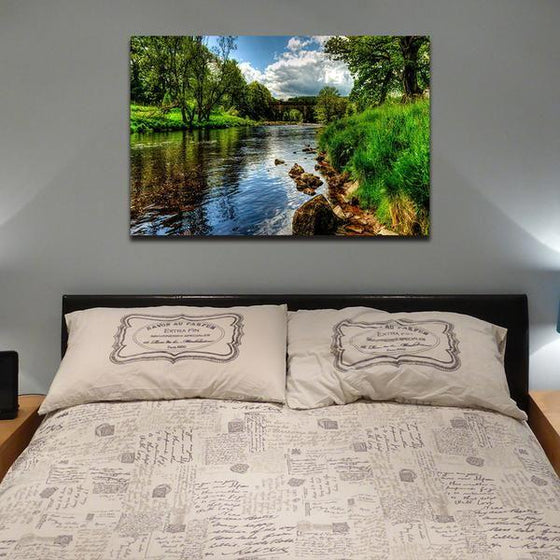 Peaceful River View Wall Art Bedroom