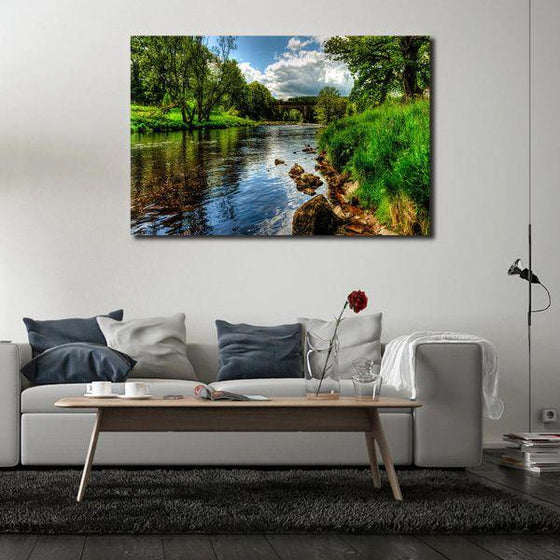 Peaceful River View Wall Art Canvas