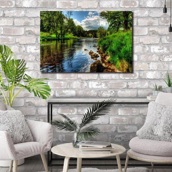 Peaceful River View Wall Art Decor
