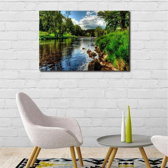 Peaceful River View Wall Art Dining Room