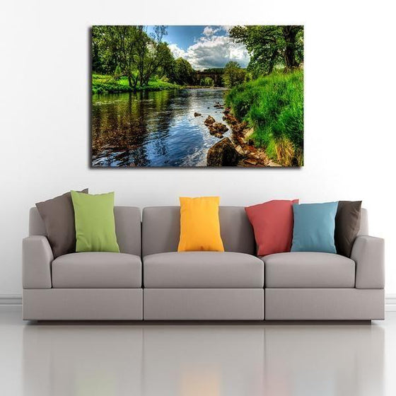 Peaceful River View Wall Art Living Room