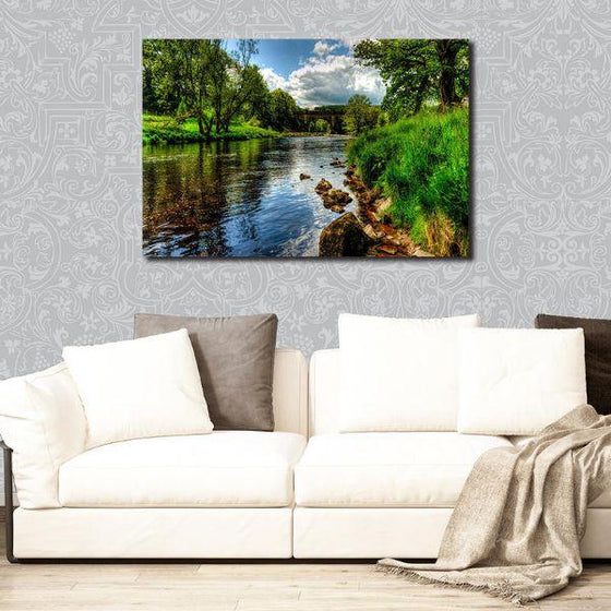 Peaceful River View Wall Art Print
