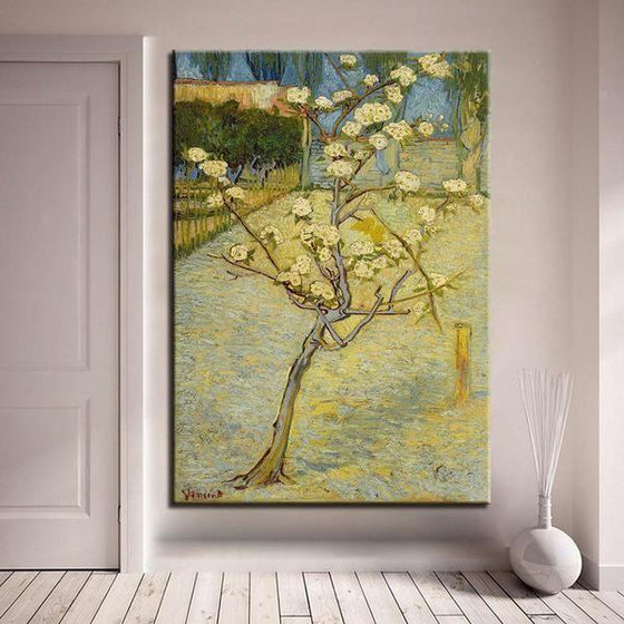 Blossoming Pear Tree 1888 By Van Gogh Canvas Wall Art Decor