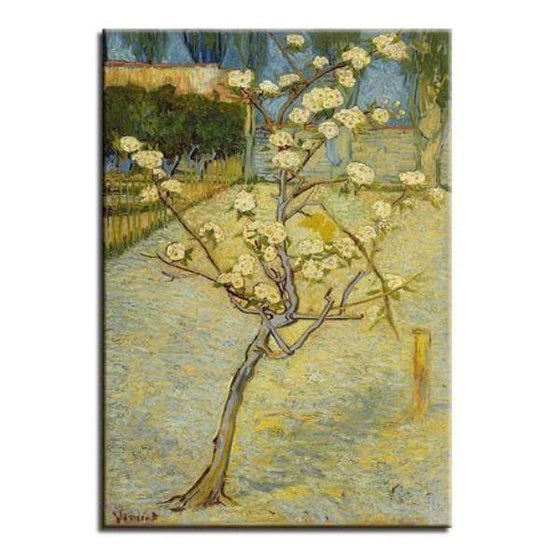 Blossoming Pear Tree 1888 By Van Gogh Canvas Wall Art Living Room