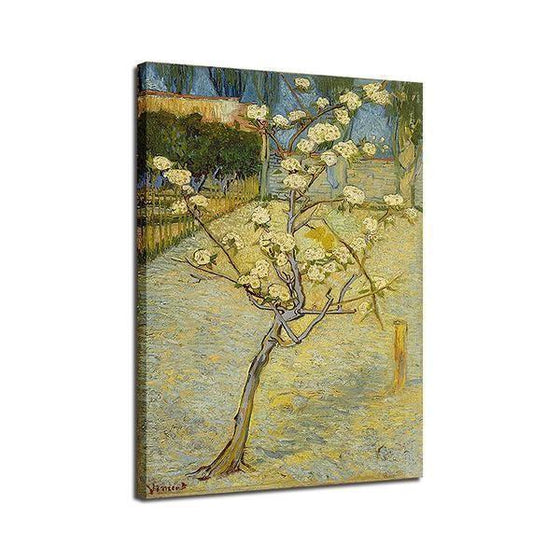Blossoming Pear Tree 1888 By Van Gogh Canvas Wall Art