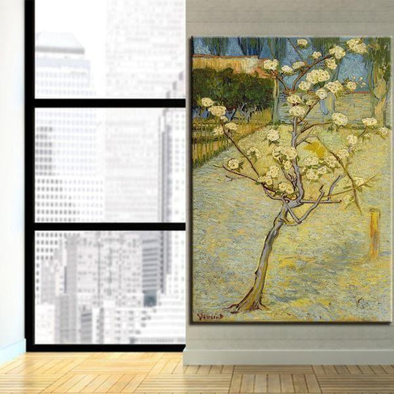 Blossoming Pear Tree 1888 By Van Gogh Canvas Wall Art Office