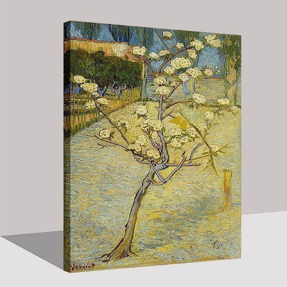 Blossoming Pear Tree 1888 By Van Gogh Canvas Wall Art Prints