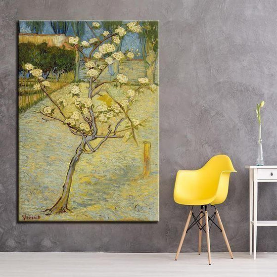 Blossoming Pear Tree 1888 By Van Gogh Canvas Wall Art Bedroom