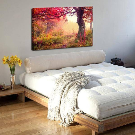 Picturesque Forest Sunrise Wall Art Bedroom