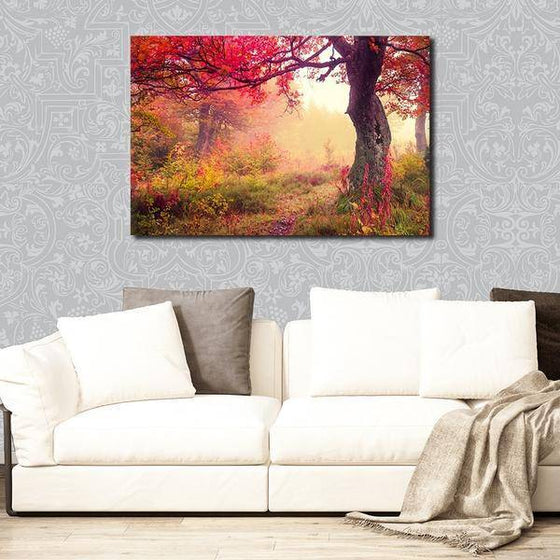 Picturesque Forest Sunrise Wall Art Decor