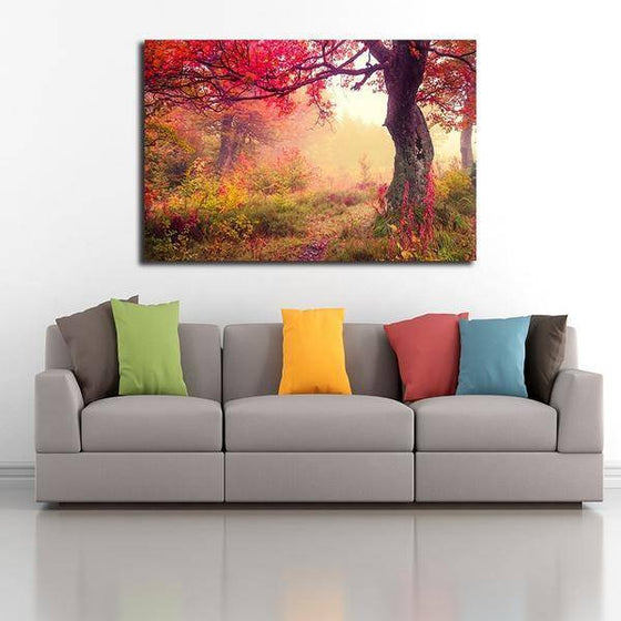 Picturesque Forest Sunrise Wall Art Ideas