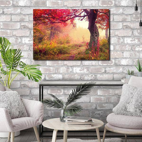 Picturesque Forest Sunrise Wall Art Print