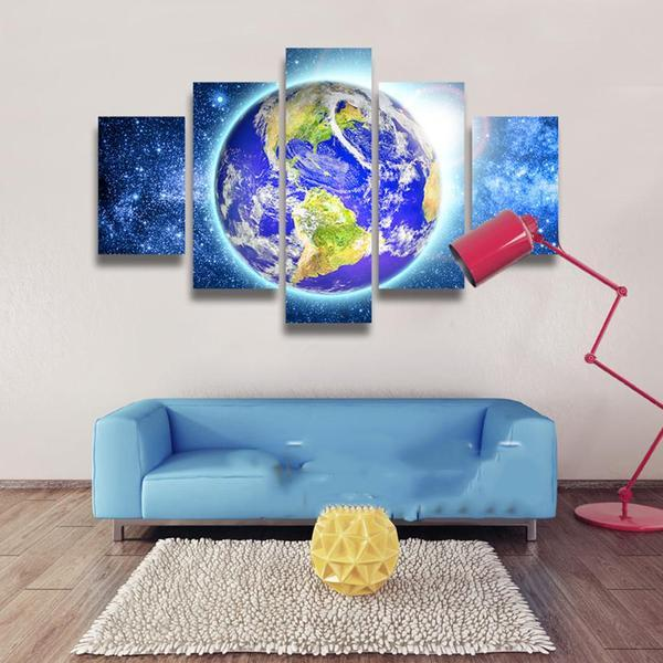 Planet Earth Wall Art Canvas