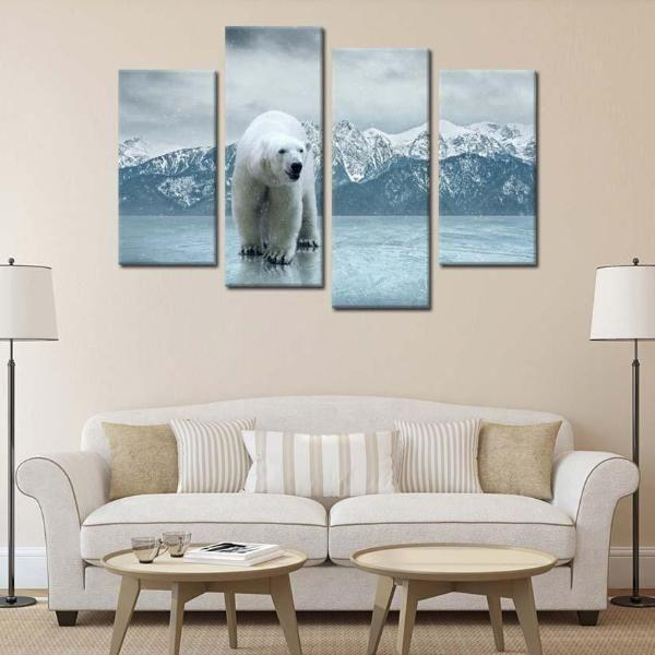 Polar Bear Metal Wall Art